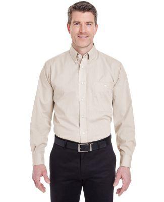8340 UltraClub® Men's Wrinkle-Free End-on-End Ble Khaki