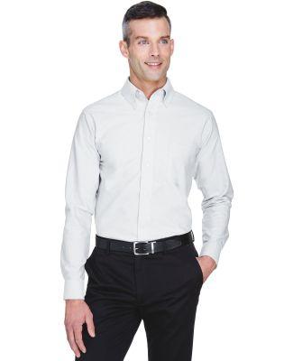 8970 UltraClub® Men's Classic Wrinkle-Free Blend  WHITE