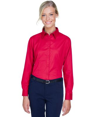 8976 UltraClub® Ladies' Whisper Twill Blend Woven RED