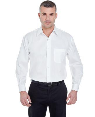 8991 UltraClub® Men's Whisper Elite Twill Blend W WHITE