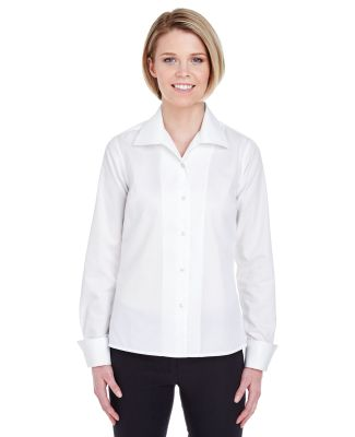 8992 UltraClub® Ladies' Whisper Elite Twill Blend WHITE