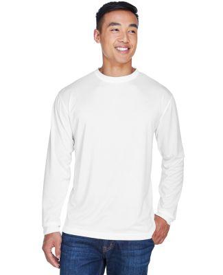 8401 UltraClub® Adult Cool & Dry Sport Long-Sleev WHITE