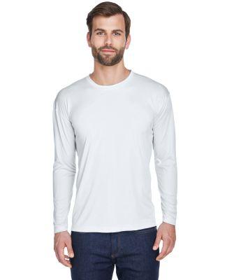 8422 UltraClub® Adult Cool & Dry Sport Long-Sleev WHITE