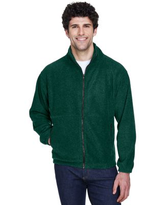 8485 UltraClub® Polyester Adult Iceberg Fleece Fu FOREST GREEN