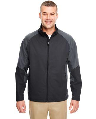 8275 UltraClub® Adult Blend Soft Shell Jacket  BLACK/ CHARCOAL