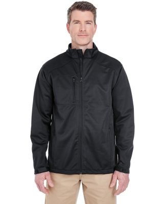 8477 UltraClub® Adult Blend Soft Shell Solid Jack BLACK