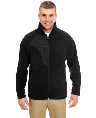8495 UltraClub® Adult Full-Zip Polyester Micro-Fl BLACK/ BLACK