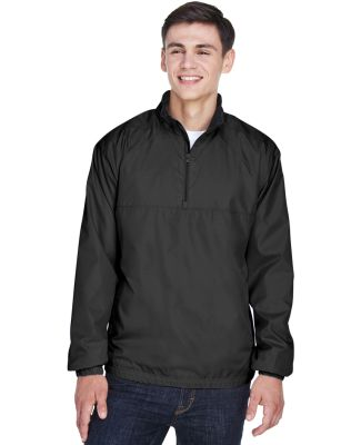 8936 UltraClub® Adult Micro-Polyester Windshirt BLACK