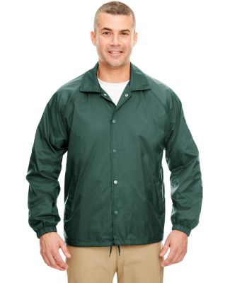 8944 UltraClub® Adult Nylon Coaches Jacket  FOREST GREEN
