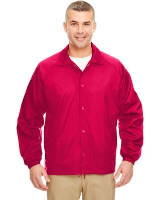 8944 UltraClub® Adult Nylon Coaches Jacket  RED