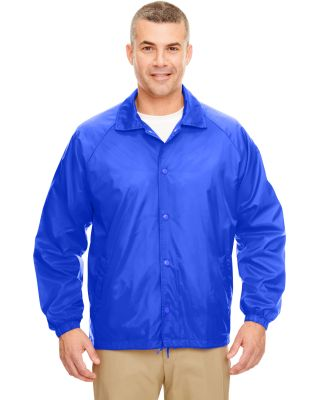 8944 UltraClub® Adult Nylon Coaches Jacket  ROYAL