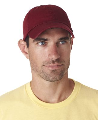 UltraClub 8102 Twill Unconstructed Dad Hat MAROON
