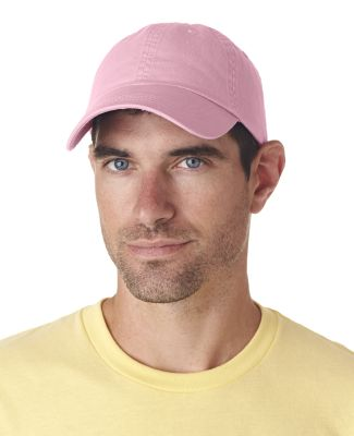 UltraClub 8102 Twill Unconstructed Dad Hat PINK