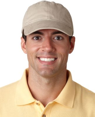 UltraClub 8116 Heavy Brushed Twill Dad Hat KHAKI