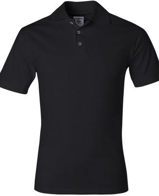 J100 Jerzees Adult Cotton Jersey Polo Black