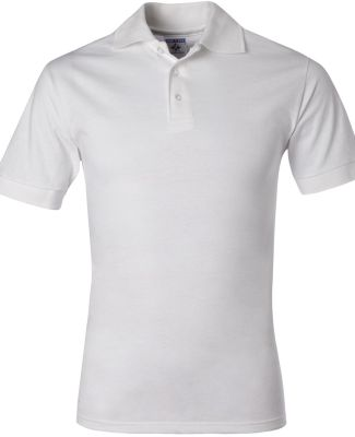 J100 Jerzees Adult Cotton Jersey Polo White