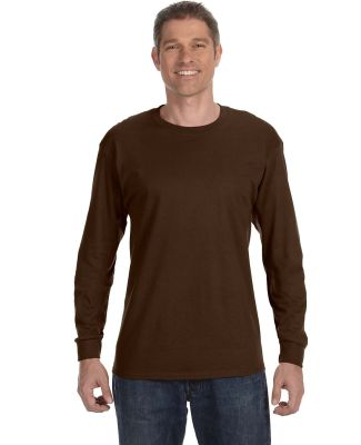 29LS Jerzees Adult Long-Sleeve Heavyweight 50/50 B Chocolate