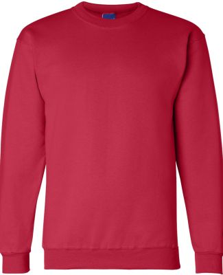 S600 Champion Logo Double Dry Crewneck Pullover Scarlet