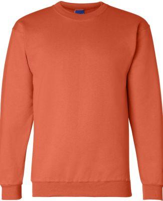S600 Champion Logo Double Dry Crewneck Pullover Orange