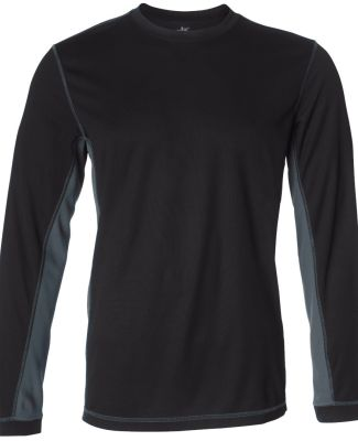 M3002 All Sport Long Sleeve Stitch T-shirt Black/ Slate