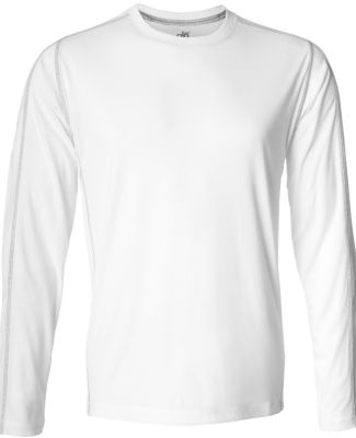 M3021 All Sport Long Sleeve Edge Tee White/ Grey