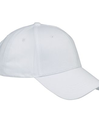 BX020 Big Accessories 6-Panel Structured Twill Cap WHITE
