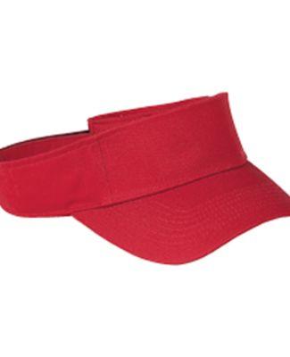BX006 Big Accessories Cotton Twill Visor RED