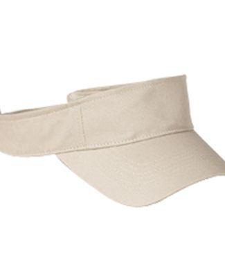 BX006 Big Accessories Cotton Twill Visor STONE