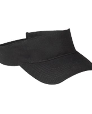 BX006 Big Accessories Cotton Twill Visor BLACK