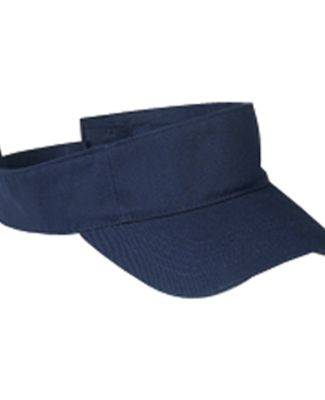 BX006 Big Accessories Cotton Twill Visor NAVY
