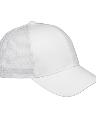BX019 Big Accessories 6-Panel Structured Trucker C WHITE