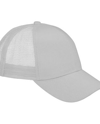 BX019 Big Accessories 6-Panel Structured Trucker C LIGHT GRAY