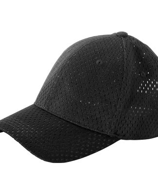 BX017 Big Accessories 6-Panel Structured Mesh Base BLACK