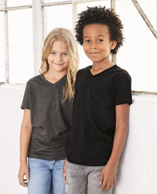 BELLA+CANVAS 3005Y Youth V-Neck T-Shirt Catalog