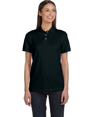 8680 Anvil Ladies Pique S/S Polo BLACK