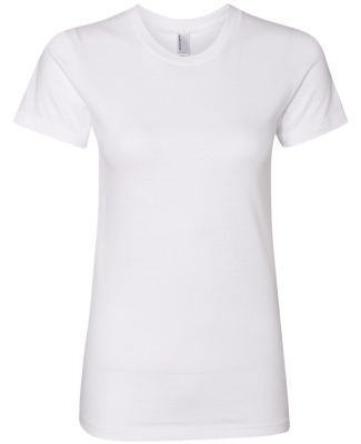 2102 American Apparel Girly Fine Jersey Tee WHITE
