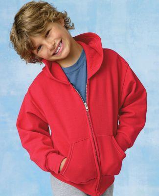 P480 Hanes® PrintPro®XP™ Comfortblend® Youth Hooded Full Zip Sweatshirt Catalog