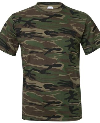 939 Anvil Ring Spun Camouflage Tee Camo Green
