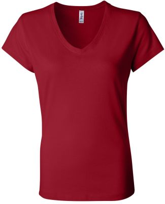 BELLA 6005 Womens V-Neck T-shirt RED