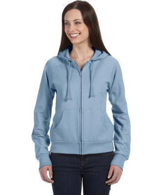 BELLA 7007 Womens Zip-up Fleece Hoodie BABY BLUE