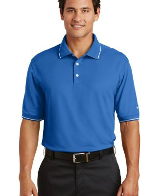 Nike Golf Dri FIT Classic Tipped Polo 319966 Pacific Blue