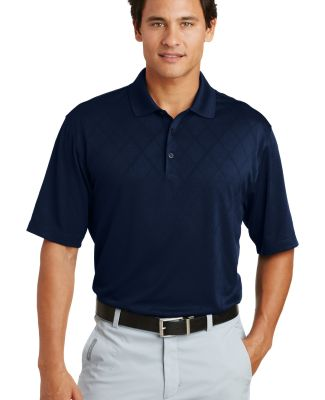 Nike Golf Dri FIT Cross Over Texture Polo 349899 Midnight Navy