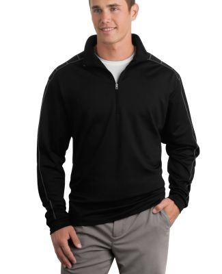 Nike Golf Dri FIT 12 Zip Cover Up 354060 Black/Dk Grey
