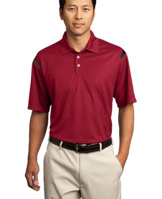 Nike Golf Dri FIT Shoulder Stripe Polo 402394 Vrsty Red/Blk