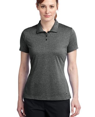Nike Golf Ladies Dri FIT Heather Polo 474455 Black Heather