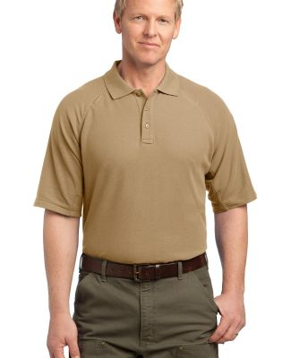 CornerStone EZCotton153 Tactical Polo CS414 Tan