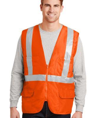CornerStone ANSI Class 2 Mesh Back Safety Vest CSV Safety Orange