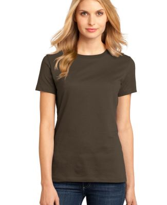 District Made 153 Ladies Perfect Weight Crew Tee D Espresso