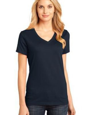 District Made DM1170L Ladies Perfect Weight V Neck Tee  Catalog