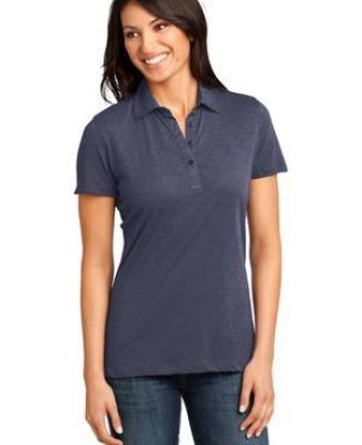 District Made DM450 Ladies Slub Polo  Catalog
